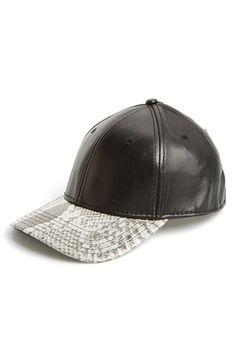Gents Leather Baseball Cap  120b251bfad3