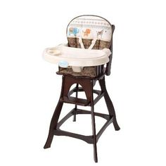 Carter's Animal Parade Classic Comfort Wood High Chair from BabyAge.com!