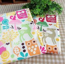 2 cores 50 * 70 cm dos desenhos animados roupa de cama patchwork pacote trimestre gordura para diy, Cortina, Têxteis lar(China (Mainland))