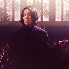 """Snape looks like he just saw some draco x harry fanfiction and is like""""I would ship that. Professor Severus Snape, Snape Harry Potter, Harry Potter Severus Snape, Alan Rickman Severus Snape, Severus Rogue, Mundo Harry Potter, Harry Potter Characters, Severus Snape Quotes, Slytherin"""