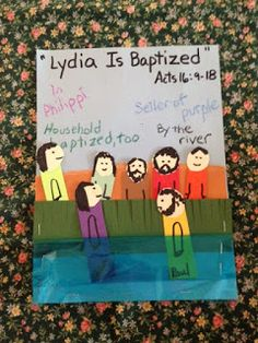 Acts 16. Lydia. Studying about the Macedonian call tonight on the blog. In this country that has never before heard the Gospel of Jesus Christ, Paul teaches and baptizes Lydia by the river in the city of Philippi. Easy, inexpensive, and unique children's bible lessons. Free to all! Take a look and share!