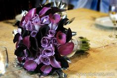 Purple cala lily bouquet