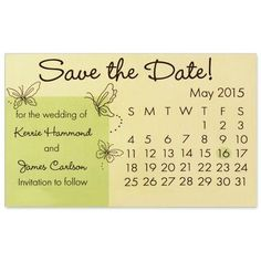 save the dates with butterflies | Butterfly Design Save-The-Date Magnet For Bride To Be