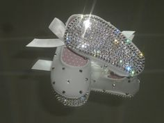 Rhinestone Baby Shoes Clear Crystal Baptism / by DiamondCouture, $84.99