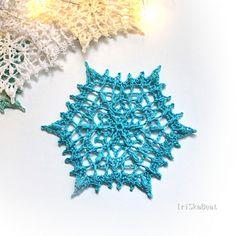 Ravelry: Rhea snowflake pattern by Irina Maleeva Crochet Christmas Ornaments, Snowflake Pattern, Cotton Thread, Doilies, Ravelry, Snowflakes, Crochet Earrings, Texture, Free