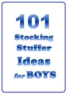 Great list of inexpensive gift ideas and stocking stuffers for teenage boys.