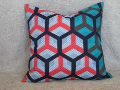Love this pillow Printed Cushions, Cushion Covers, Wax, Wordpress, Vibrant, African, Colours, Throw Pillows, Decorating