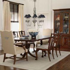 ethanallen.com - newport banded double pedestal table | ethan allen | furniture | interior design