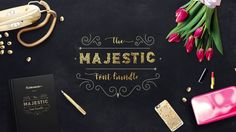 The Majestic font bundle Nice font bundle with a lot of interesting and very good designed handlettering fonts just for 29,00$ instead of 600,00$ Download it here >