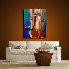 Abstract art portrait painting original Modern wall pop