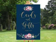 Printable wedding sign Wedding cards and gifts by instanttrends