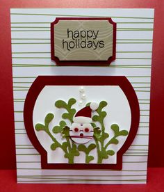 Stampin' Up Mistletoe & Holly November 2015 Paper Pumpkin Kit Alternate Card created by Lynn Gauthier. Go to http://lynnslocker.blogspot.com/2015/12/stampin-up-mistletoe-holly-paper_3.html for more details on this project.