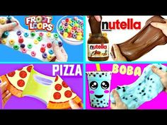 5 DIY FOOD-INSPIRED SLIME IDEAS | Oddly Satisfying Compilation 2017 - YouTube
