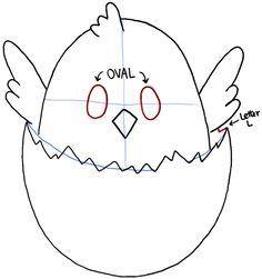 How to draw a baby chicken - photo#49
