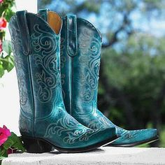 Turquoise Boots | King Ranch