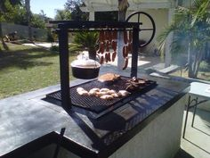 Ideas Backyard Grill Ideas Santa Maria For 2019 Backyard Kitchen, Backyard Patio, Santa Maria Bbq, Argentine Grill, Diy Grill, Barbecue Grill, Bbq Area, Barbacoa, Outdoor Cooking