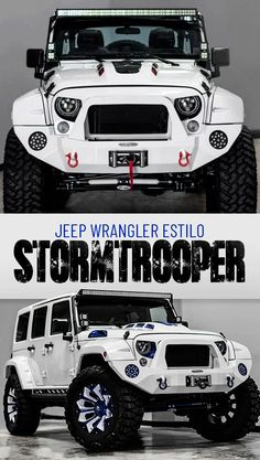 Jeep Wrangler estilo Stormtrooper. Camionetas, camionetas Jeep Wrangler, Jeep modificado, vehículos todo terreno, camioneta modificada, camioneta estilo Star Wars, Voltron Motors, camionetas de colección, mejores camionetas, camionetas personalizadas, mejores vehículos, vehículos para hombres, Jeep Wrangler Stormtrooper style, Trucks, Jeep Wrangler vans, modified Jeep, off-road vehicles, modified van, Star Wars style truck, Voltron Motors, collection trucks, Jeep Stormtrooper, expedition…