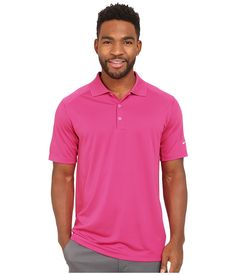 Image of Nike Golf - Nike Victory Polo (Vivid Pink/White) Men's Short Sleeve Pullover