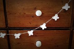 Clay butterfly garland including 1 personalised by TwoAndBoo