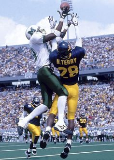 receiver RANDY MOSS set an NCAA freshman record with 28 TD receptions in 1996. Moss scored at least one touchdown in each of the Thundering Herd's 15 games.