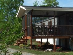 Mobile Home Porch On Pinterest Single Wide Mobile Homes