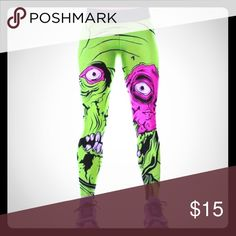 zombie leggings in perfect condition i just no longer have use for them besides they just sit in my dresser. they're comfy with a cool zombie feel. pair it with an oversized sweatshirt or tee and you're set! please place reasonable offers if interested 😊 Iron Fist Other