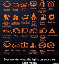 The lights on your cars dash | Memes.com