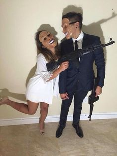halloween costumes - 24 Best EVER Halloween costumes for couples homemade halloween costume/hot halloween costume/unique costume ideas/halloween couple costumes/halloween 2017 costume ideas/couples halloween… Funny Couple Costumes, Cute Couple Halloween Costumes, Best Couples Costumes, Looks Halloween, Homemade Halloween Costumes, Halloween Outfits, Diy Costumes, Happy Halloween, Halloween 2017