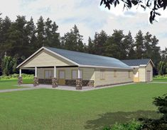 House Plan 85313 | Contemporary Plan with 1584 Sq. Ft., 2 Bedrooms, 2 Bathrooms, 1 Car Garage