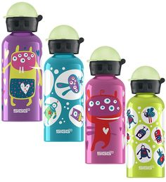 Kids' Aluminum Water Bottle, Glow in dark cap! 13.5 fl oz