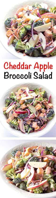Cheddar Apple Broccoli Salad