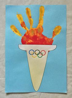 olympic handprint torch craft
