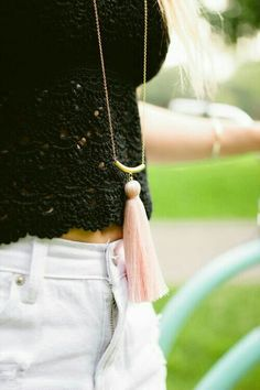 We love the tassel trend and so does our latest Chic of the Week. via  Lauren Conrad aeb2e8224c2