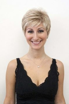 Sheila is the perfect razor cut pixie wig,extremely lightweight and comfortable. The soft wave in the layers gives it a chic, but fun look. Short Wig Styles, Short Wigs, Short Pixie, Short Hair Cuts, Hair Styles, Great Haircuts, Trendy Haircuts, Pixie Hairstyles, Pixie Haircut