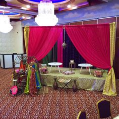 Beautiful royal blue with gold white draped mandap venue for indian wedding decorations in the bay area california contact rr event rentals located in union city serving the bay area and beyond junglespirit Images