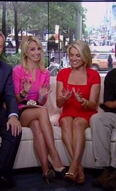 Elisabeth Hasselbeck & Heather Nauert legs and heels on Fox and Friends