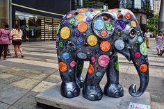 Elephant Parade - Princess Ellie | Elephant Parade Singapore… | Flickr Asian Elephant, Elephant Love, Elephant Art, Elephant Keychain, Cow Parade, Elephants Never Forget, Elephant Parade, Fabric Animals, Art Plastique