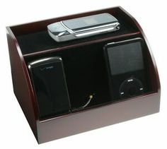 Clean Up Your Desk Charging Station Organizer Rosewood