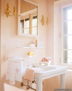 Casa à moda: interiores Rosa
