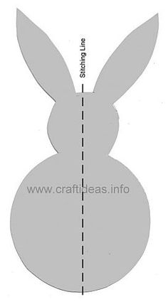 3d easter bunny template