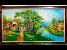Top những mẫu tranh phong cảnh về quê hương yêu dấu cực đẹp