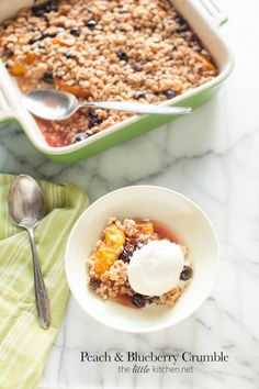 Peach and Blueberry Crumble - The Little Kitchen