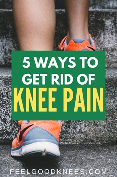 5 Ways to Get Rid of Knee Pain Knee Pain Relief, Arthritis Pain Relief, Arthritis Remedies, Knee Arthritis Exercises, Knee Pain Exercises, Swollen Knee, Knee Swelling, How To Strengthen Knees