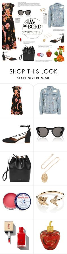 """""""  Going Away  """" by aurumx ❤ liked on Polyvore featuring Reformation, Topshop, Aquazzura, Givenchy, Mansur Gavriel, BROOKE GREGSON, Smith's, EF Collection, Whiteley and Lolita Lempicka"""