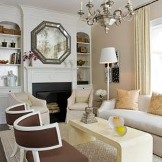 Basha White Interiors designed the living room of the 2009 DC Design House  using our Octagonal