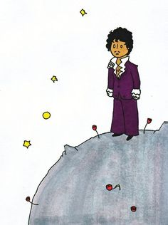 "Since Prince died on Thursday, you've probably seen this illustration, which poetically depicts Prince as the famous ""Little Prince"" by Antoine de Saint-Exupéry."