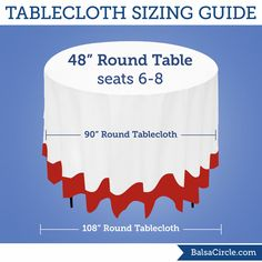 The complete linen sizing guide for your wedding or event Linen