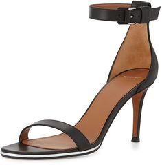 Givenchy Nadia Leather Ankle-Strap Sandal