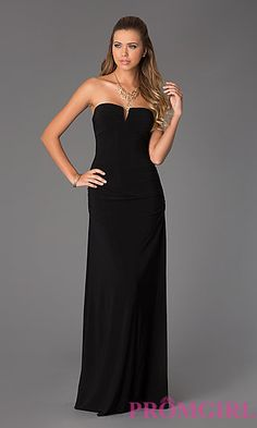 Hailey Logan Ruched Strapless Gown for Prom at PromGirl.com $59