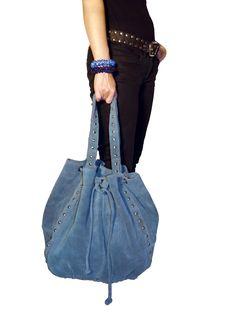 Blue Sky mockaväska/suede bag, bälte/belt & armband/bracelets @ www.decult.se
